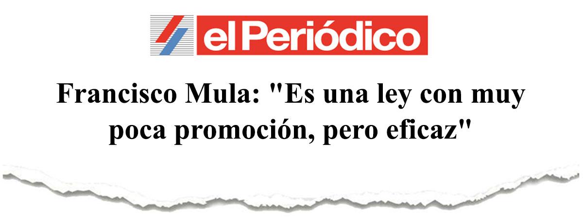 """Francisco Mula: """"Es una ley con muy poca promoción, pero eficaz"""""""